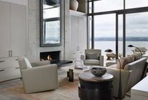 Living Area Inspiration / Made possible with Cemcrete cement-based finishes.