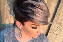 Hair / Bob haircut, ombre for short hair