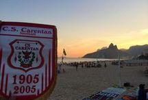 """Travel CSC football / Cliché du fanion """"Carentinho"""" du CS Carentan football dans le monde  Photo of the flag """"Carentinho"""" CS Carentan football worldwide"""