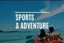Sports & Adventure / Even on a luxury holiday in Mauritius or the Maldives- you will find many activities to occupy your body & soul from swimming, gym classes & yoga to windsurfing & snorkelling, sailing, scuba, walking & much more