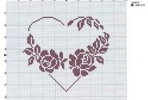 Cross stitch Hearts