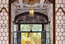 Entrance / Entrances and entryways. Beautiful doors that are arresting and welcoming. Nothing like a first impression!