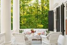 Outdoor Space / Porches, patios, and even tents that blur the boundary between inside and outside, but decorated and designed nonetheless for our enjoyment.