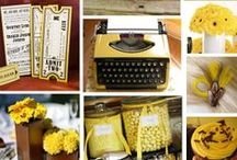 Yellow & Brown Kraft Wedding Ideas / Yellow and Brown Kraft Wedding ideas! Stop by www.KraftOutlet.com for all your Kraft Paper needs.