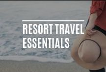 Resort Travel Essentials / Stay cool on the beach, by the pool or relaxing in the bar, dress up or down for a candlelit meal or dance the night away - here's our guide to hot holiday essentials in warmer climates