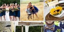 Navy, Yellow & Kraft Wedding Ideas / Crisp Navy, Sunny Yellow and Warm Brown Kraft Wedding ideas! Stop by www.KraftOutlet.com for all your Kraft Paper needs.