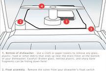 Dishwasher Repair / Dishwasher Repair, maintenance and cleaning tips, dishwasher parts.