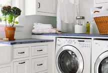 Laundry Rooms / Laundry room design inspirations, organization ideas, how-to's and neat gadgets to have in your laundry room.