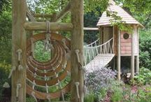 ✿ The children's garden ✿ / How to make a garden for children. A garden with rooms to play in. It's nice to have your own playground.