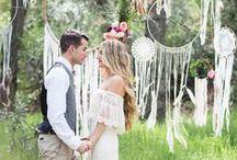 Hippi esküvő inspiráció
