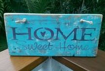 My Etsy Shop Easydone Decor / Handmade cushions, stencilled signs, mosaics and upgraded furniture
