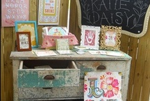 Visual Displays / Inspired ways to display collections for art and craft fairs and around your home.