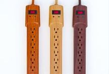 Invisiplugs / Wood Grain Power Strips