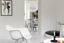 interior inspiration / Scandinavian Style Interior Design -black & white-