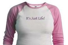 """""""It's Just Life"""" for Her / """"It's Just Life"""" slogan from Boy Toy Casual Wear and Gifts"""