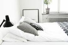 Bedroom / Scandinavian Style Interior Design. -Black & white-