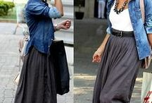 Style: maxi skirts and -dresses