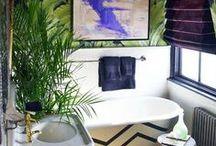 Deco: purple/mint/jungle living room inspiration