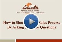 Maple Ridge Farms Webinars / Learn new strategies for selling food gifts. These free Webinars from Maple Ridge Farms will help you be ready for a great holiday season.