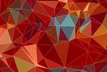 Hátterek/Background / Fotók alapján készítettem ezeket a geometrikus képeket amiknek valóban csak a képzelet szab határt...