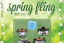 Crock-Pot® Slow Cooker Spring Fling Sweepstakes / We're celebrating spring by giving away our fans' favorite Crock-Pot® Slow Cookers! Enter our Pinterest contest and pin your favorite Crock-Pot® Slow Cooker for your chance to win it! / by Crock-Pot® Slow-Cooker