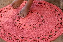 Tappeti UNCINETTO * rugs * alfombras * / Patrones de alfombras en ganchillo