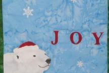 The Joy Bearer / The Joy Bearer - Original art work by Will Bullas. Quilt by Nan Baker of Purrfect Spots featured as a BOM in The Quilt Pattern Magazine - Feb/Nov 2013 www.quiltpatternm...