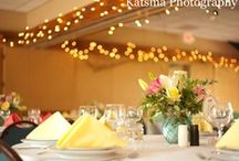 Gallery Reception at Klehm Arboretum / The ceiling is rimmed with grapevine entwined with twinkle lights for added ambience of your reception.