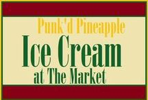 Ice Cream Lovers Unite (here) / Only at The Market at Liberty Place...Punk'd Pineapple, the newest addition to The Market at Liberty Place, offers novelty soft-serve ice cream with unique toppings. And everyone knows that toppings make a sundae!