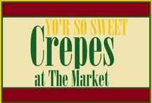 Crépes and Cakes / Only at The Market at Liberty Place...Yo'R So Sweet welcomes you as you step into the Market at Liberty Place with its sweet-smelling and eye-grabbing crépes. Who said crépes were only for breakfast?! Breakfast can be served any time of the day!