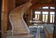Stairs - past jobs / www.VinesWoodworks.com https://www.facebook.com/VinesWoodworks Vines Woodworks, Inc. is a turn-key custom stair builder. We specialize in custom stairs including straight, curved, radius, freestanding. We do all phases of construction, including: new homes, remodeling, additions, as well as commercial stairs and additional finish carpentry. We are a top quality stairs parts distributor serving all of Alabama and surrounding states.  / by Vines Woodworks, Inc.