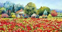 aquarelle paysage watercolor landscape street
