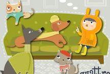 Hello quattropiuno! / Vieni con noi nel mondo di quattropiuno. Nuovi amici ti aspettano per condividere fantastiche avventure: in giro per il mondo con gli inseparabili amici Wool e Tweed, un tea in compagnia della gattina Chiffon guardando la tour Eiffel, correndo sotto la pioggia insieme al gattino Tartan o semplicemente seduto in compagnia di Noa sulla panchina nel parco della tua città. Tante colorate illustrazioni tutte per te!