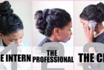 Natural Hair & Professionalism / You do not have to have straight hair to create beautiful professional styles. This board shows you how to rock your natural hair, professionally!  (Note: Unless otherwise stated, many of the people in these pics are KSM customers, partners, and friends.)