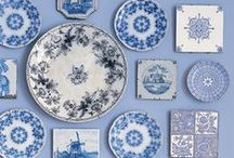 Decorative wall tiles or plates