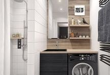 Interiors • Laundries / Your laundry room can be utilitarian and stylish at the same time. Discover decorating ideas to make your space feel clean, fresh, and organized.For more inspiration visit me at sigrekiannainteriors.com