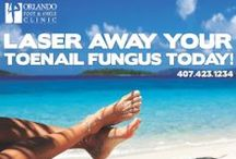 Toe Nail Fungus Treatment / At Orlando Foot and Ankle Clinic we have a state of the art Laser that removes toe nail fungus in one treatment. To schedule an appointment call 407-423-1234 today.