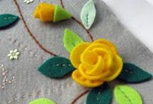 Flowers (Flores) / Fabric, felt, yarn, and paper flowers / by Adriana Ocampo