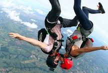 Taking the Plunge / Sky diving falling plunging freedom