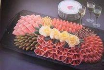 Obložené mísy,slané dorty a další