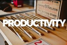 Productivity Tricks / A collection of handy productivity lessons, tips and quotes for the busy Pinterest marketer.