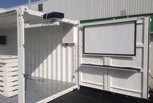 Container stand fabricación / Proceso de fabricación de container para alquiler . Mybox_stand  By www.myboxexperience.com