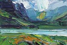 """Scotland En Plein Air Exhibition / En plein air is a French expression which means """"in the open air"""" and is particularly used to describe the act of painting outdoors."""