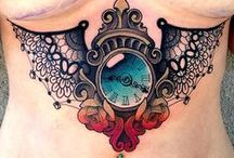 Clock & Compass Tattoos