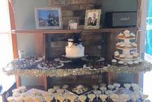 Bridal Showers / If you want a warm and inviting atmosphere for  your friends and family, enjoy the fireplace, leather seating arrangement and cherry furnishings at Putters