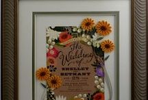 Quilling -- My Wedding Invitations / My recent special order wedding invitations, with quilling, of course.....