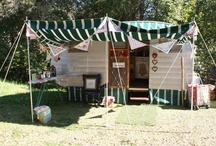 "Vintage RVin / I co-own a 1953 ""King"" Vintage Travel Trailer named ""Queenie"" and am in the process of restoring it to it's original cuteness and glory.....just sharing some fun old trailers and glamping ideas with you! / by Brena Bailey"