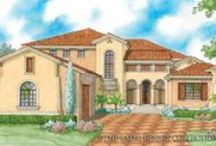 Renderings - Sater Design Luxury House Plans / Renderings of some of our most popular luxury house plans, including Mediterranean, Cottage, Tuscan, European and Farmhouse styles.
