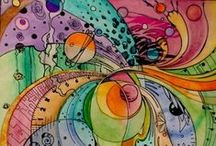 zentangles / this is a great detail-oriented art