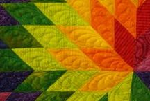 quilts / These quilts are beautiful, I love detail and color.